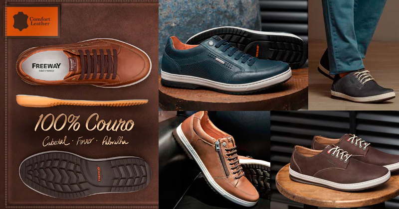 sapatos feitos em couro