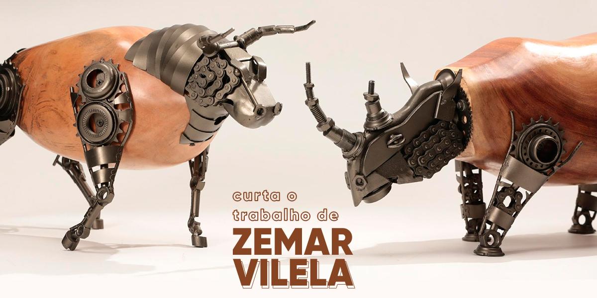 Esculturas de animais de sucata artista sustentável cria peças incríveis