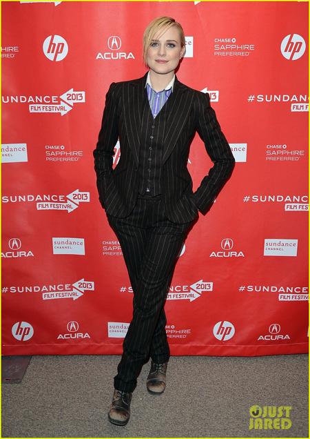 Evan Rachel Wood durante o Festival de Sundance, em Park City, Utah.