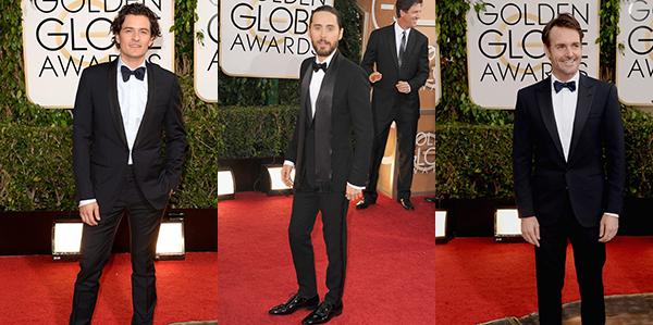 looks masculinos do Golden Globes 2014