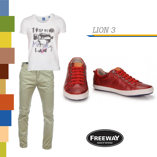 Look masculino com sapatênis vermelho