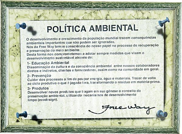 Politica Ambiental da Freeway - sapatos masculinos de Franca