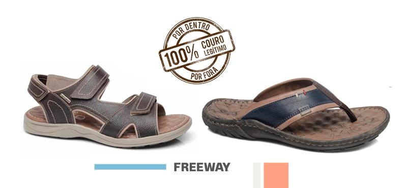 Bermudas para o verão com chinelos e sandálias em couro