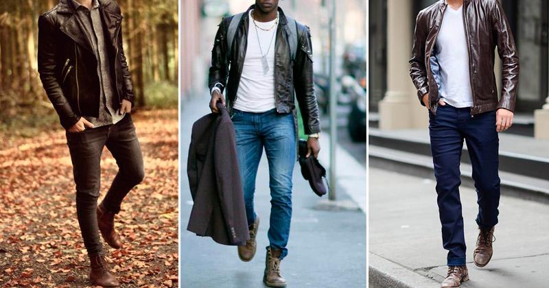 10 roupas masculinas - jaquetas em couro