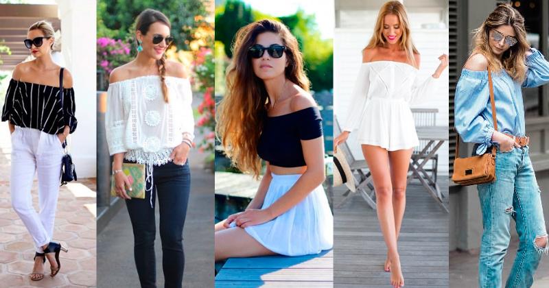 Verão com ombros de fora | tendência moda feminina verão 2017/2018