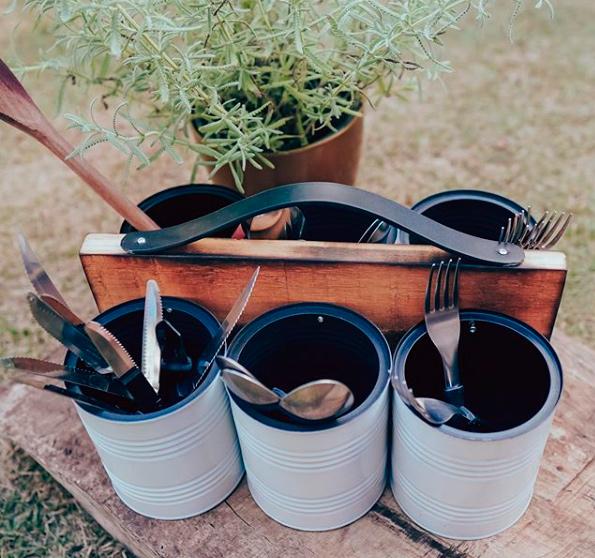 Reaproveitamento e sustentabilidade: latas de tinta viram objetos de decoração