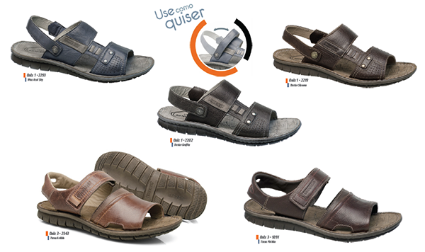 Sandálias para homens com estilo