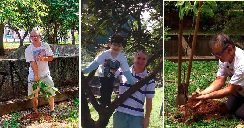 Sustentabilidade: homem planta árvores há 10 anos na zona leste de São Paulo