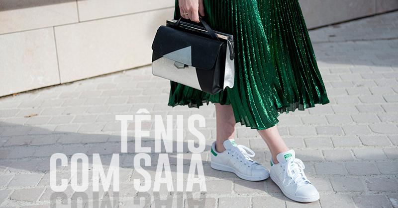 Tênis com saia está alta: confira as dicas de looks